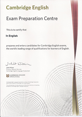 Academia In English Zaragoza, Cambridge English Certificate